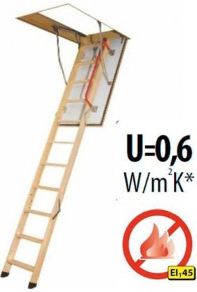 Protipožární půdní schody FAKRO LWF 280