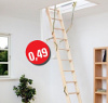 Podkrovné schody DOLLE ClickFix 76 -  trojdielne